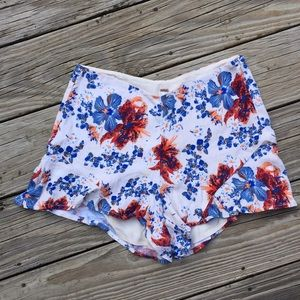 Vibrant Floral Free People Sexy and Airy Shorts